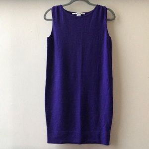 DVF cashmere sleeveless purple dress